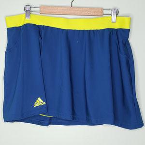 ADIDAS Climalite teal blue tennis skirt XL